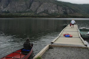 Canoeing on Some Lake Outside Haines Junction